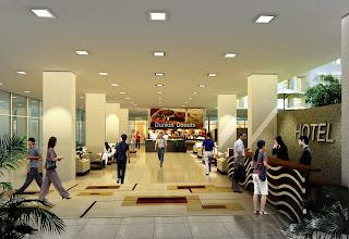 Perspektif Interior Lobby karya Evolver Arsitek