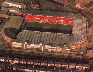 Above view of Old Trafford in 1984