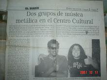 """""""Paraná XIV Metal Festival"""" - foto """"el Diario de Paraná"""""""