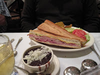 Click to enlarge - Cuban sandwich with black bean soup