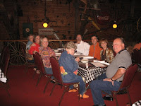 Click to enlarge - A party of nine in the loft dining room