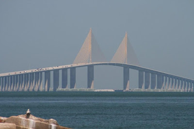 Click to enlarge – The Skyway Bridge spanning the entrance to Tampa Bay.