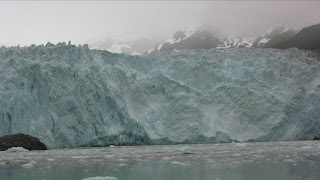 The blue ice of Aialik Glacier