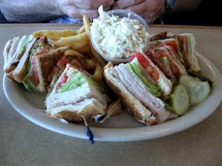 Mamas turkey club sandwich deluxe