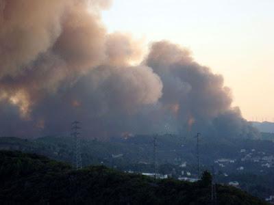 Fogo nos arredores de Vila Real, 31 Agosto 2009