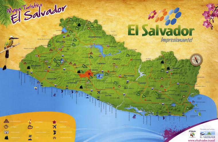 Mapa turistico de El Salvador