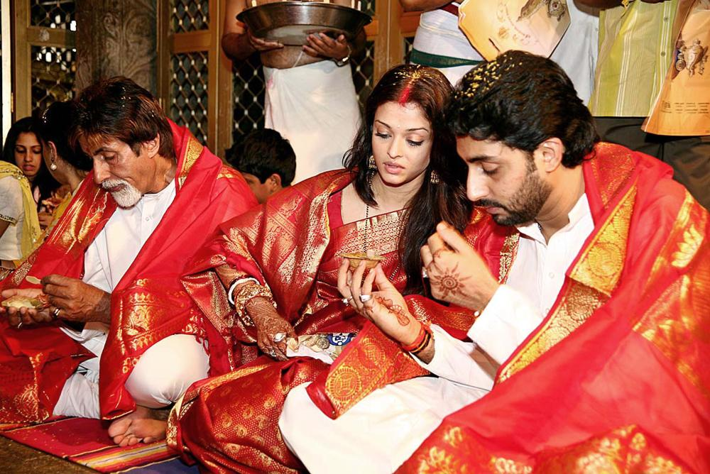... marriage bridal makeup of aishwarya rai aish abhi happy with together