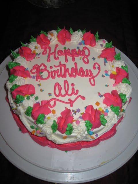 Birthday Cake Pics With Name Ali : CaraCakes: Happy Birthday Ali!