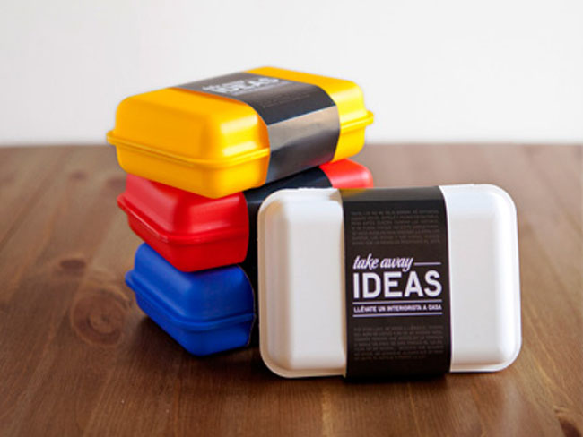 take away ideas on packaging of the world creative