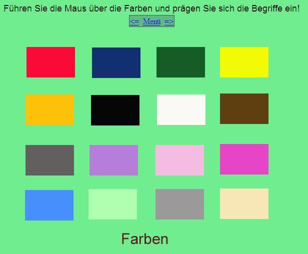 alem n f cil para todos die farben los colores. Black Bedroom Furniture Sets. Home Design Ideas