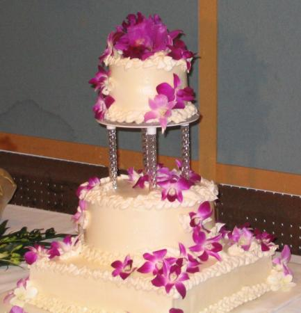 com world of cakes picture of wedding cake with fresh orchids