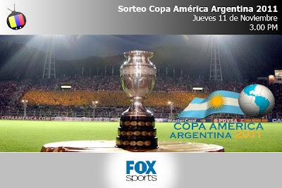 Este jueves transmisión en vivo del Sorteo de la Copa América Argentina 2011