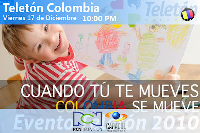 Teletón Colombia, este viernes 17 y sabado 18 de Diciembre