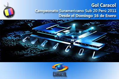 Campaonato Suramericano Sub 20, en directo por el Gol Caracol