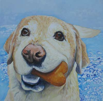 chocolate lab dog. reproductions Yellow lab