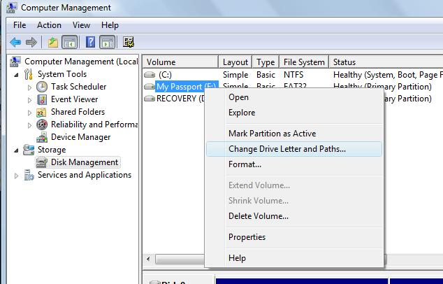 how to change removable drive to fixed