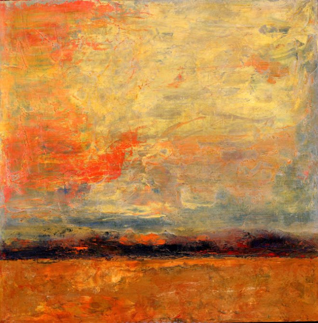 SUNSET • OIL ON PANEL • 24 x 24 • SOLD