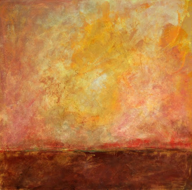 PINK SUNSET • OIL ON PANEL • 24 x 24