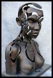 Figure féminine Buste articulé évidé en arborescence ramifiée