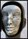 sculpture yeux bouche nez anamorphose dédoublement du visage