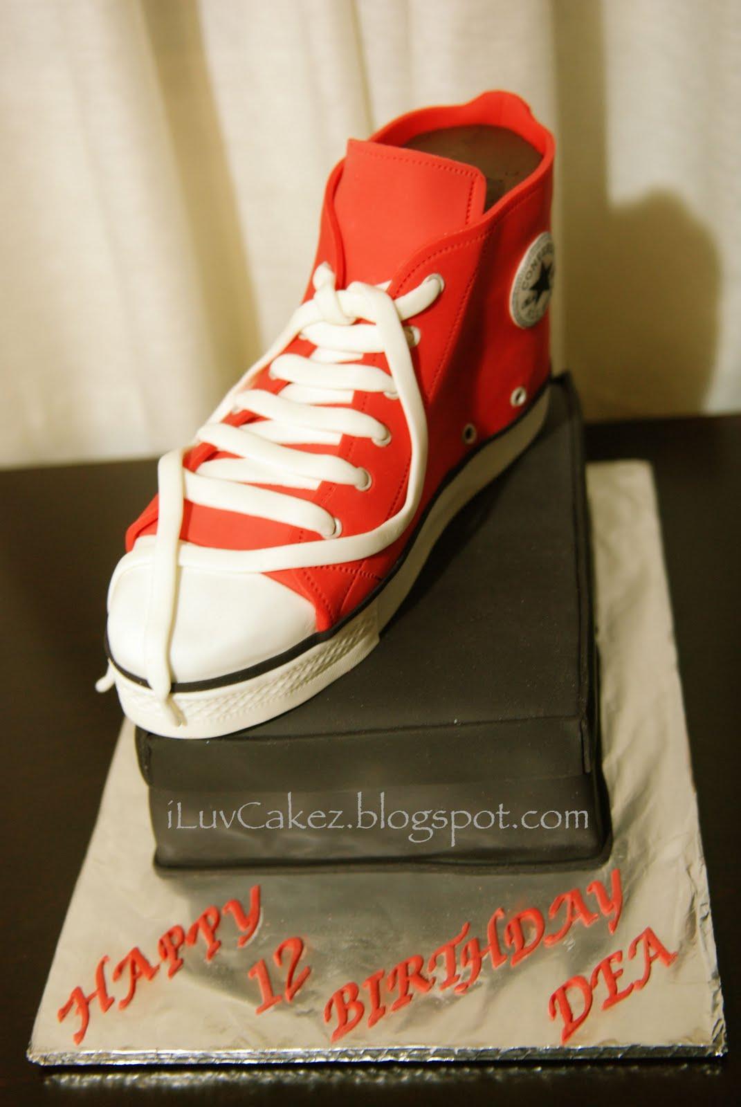 converse birthday cake