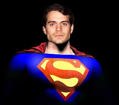 Henry Cavill as Superman - man of Steel Movie