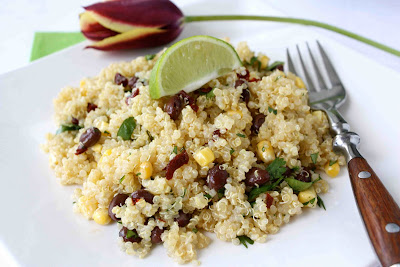 Quinoa with Black Beans, Corn & Chipotle Pepper, Lime ...