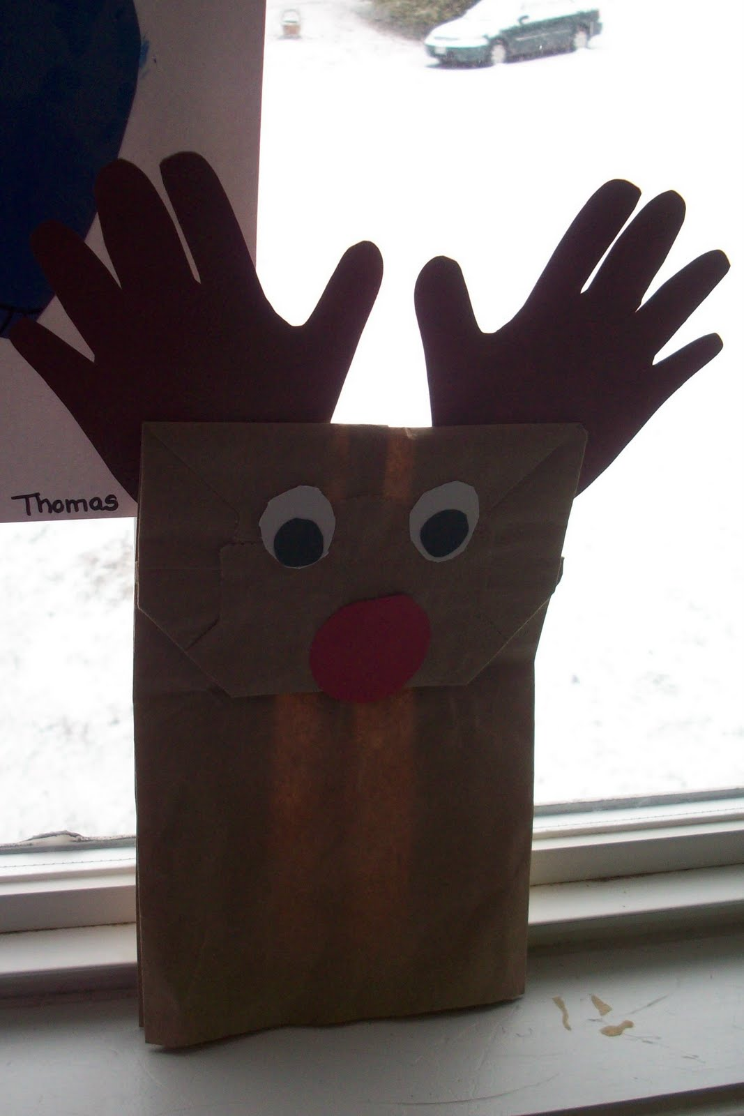 Play With Me Paper Bag Reindeer Puppet