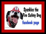 Follow Sparkles the Fire Safety Dog on Facebook