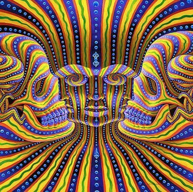 alex grey wallpaper. jesus illusion 4 dots. here