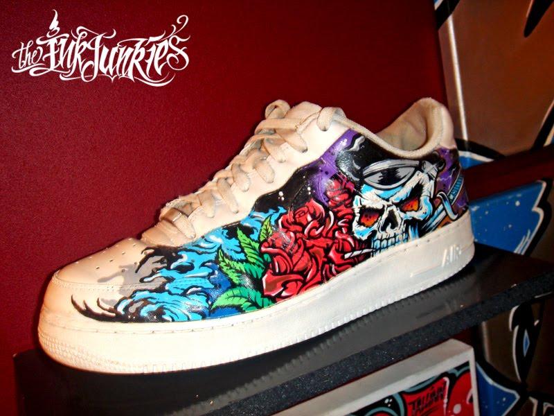 Custom Art Nike shoes by Big Mora.