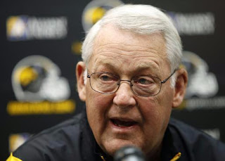 iowa defensive coordinator norm parker had his right foot amputated because