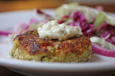 Zucchini Crabless Crab Cakes