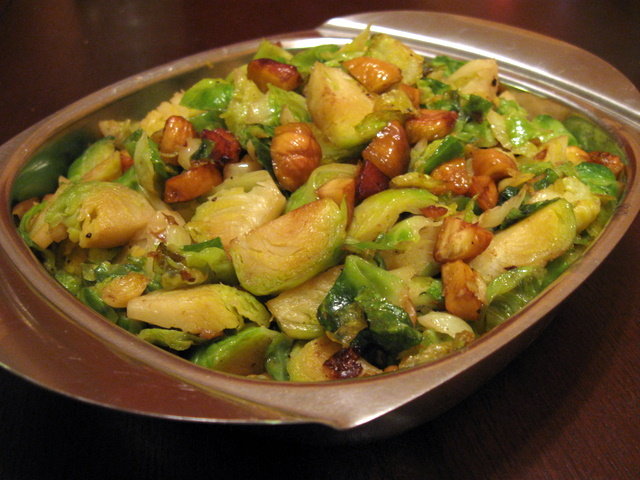 Veggie Obsession: Brussels Sprouts with Bacon and Chestnuts