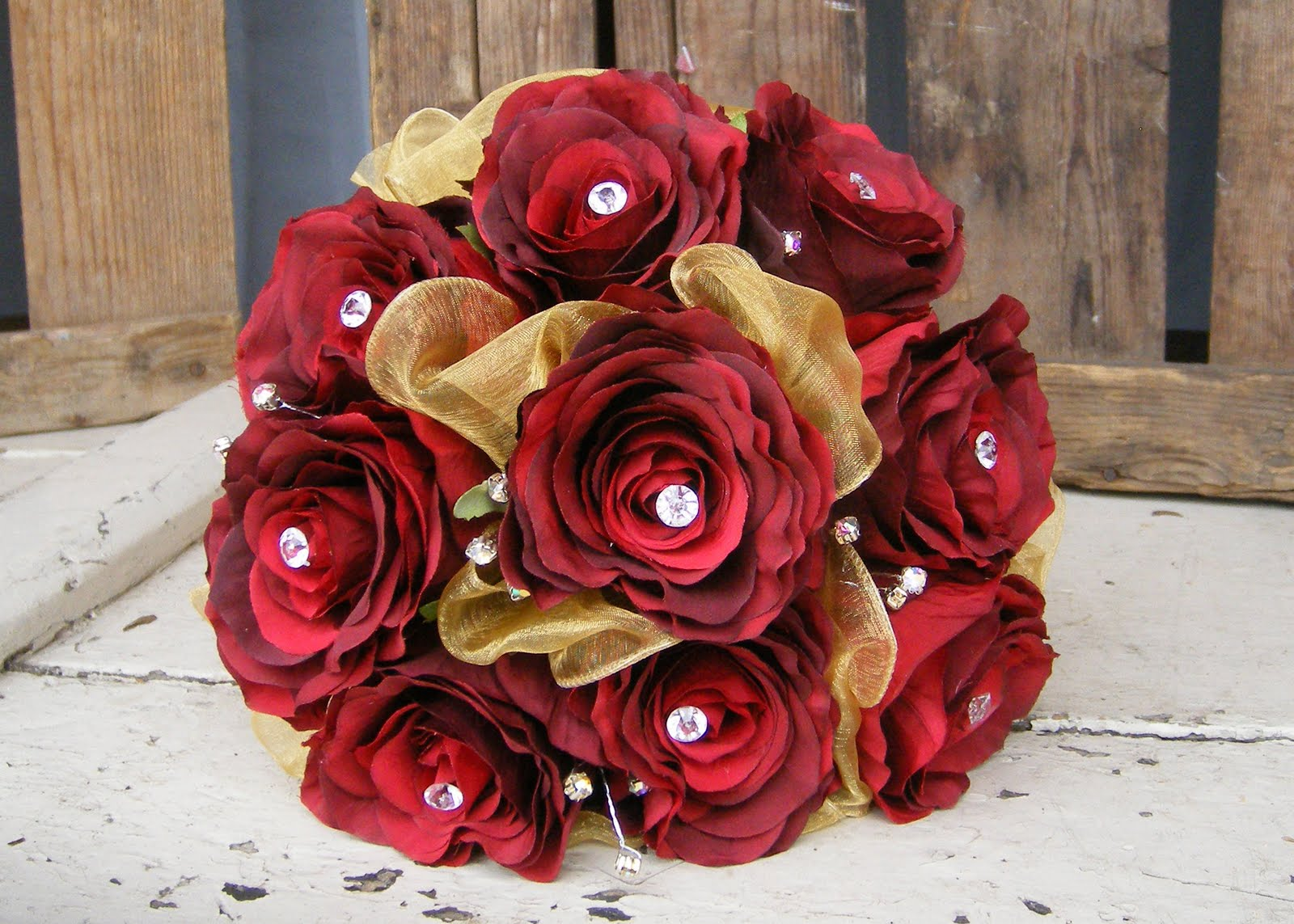 Download image Gold And Red Rose Bouquet PC, Android, iPhone and iPad ...