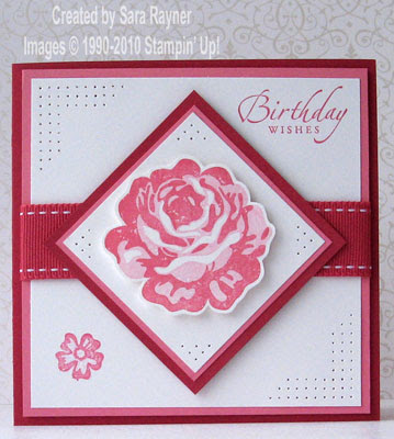 Cardstock Rose Red Regal Rose Whisper White