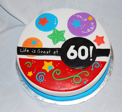 Birthday Cake Design 60 Years Old : Leelees Cake-abilities: Cake for a 60 year Old
