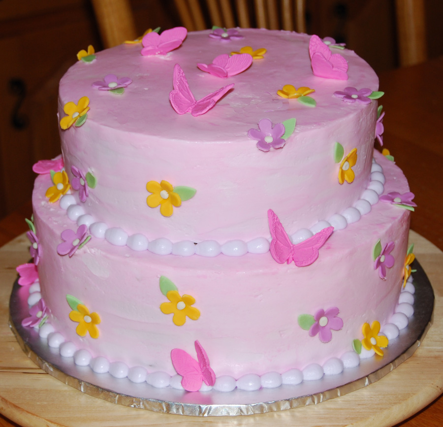 Cake Images Butterfly : Leelees Cake-abilities: Buttercream Butterfly Cake