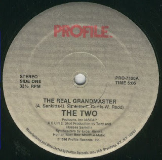 The Two - The Real Grandmaster (Vinyl, 7'' 1986)(Profile Records)