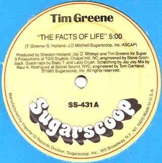 Tim Greene - The Facts Of Life (Vinyl, 12'' 1985)(Sugarscoop Records)
