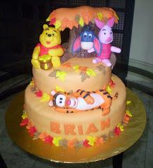 Bolo Pooh e seus amigos