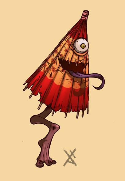hablemos de criaturas mitologicas! Karakasa