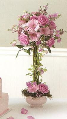 Wedding Tidbits Centerpieces Fresh Flowers Silk Flower