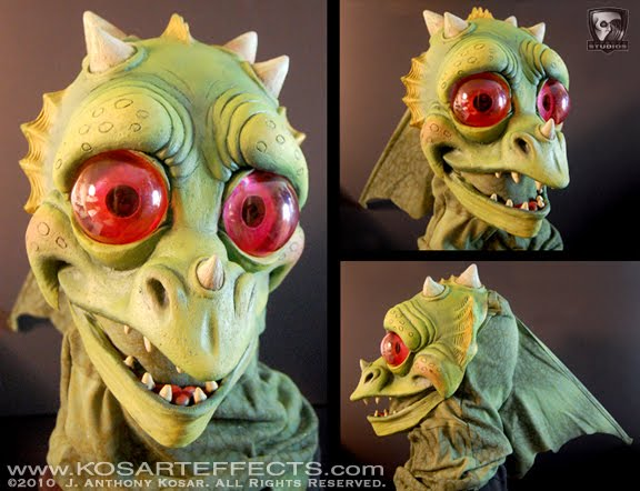 a little puff dragon mask posted on website