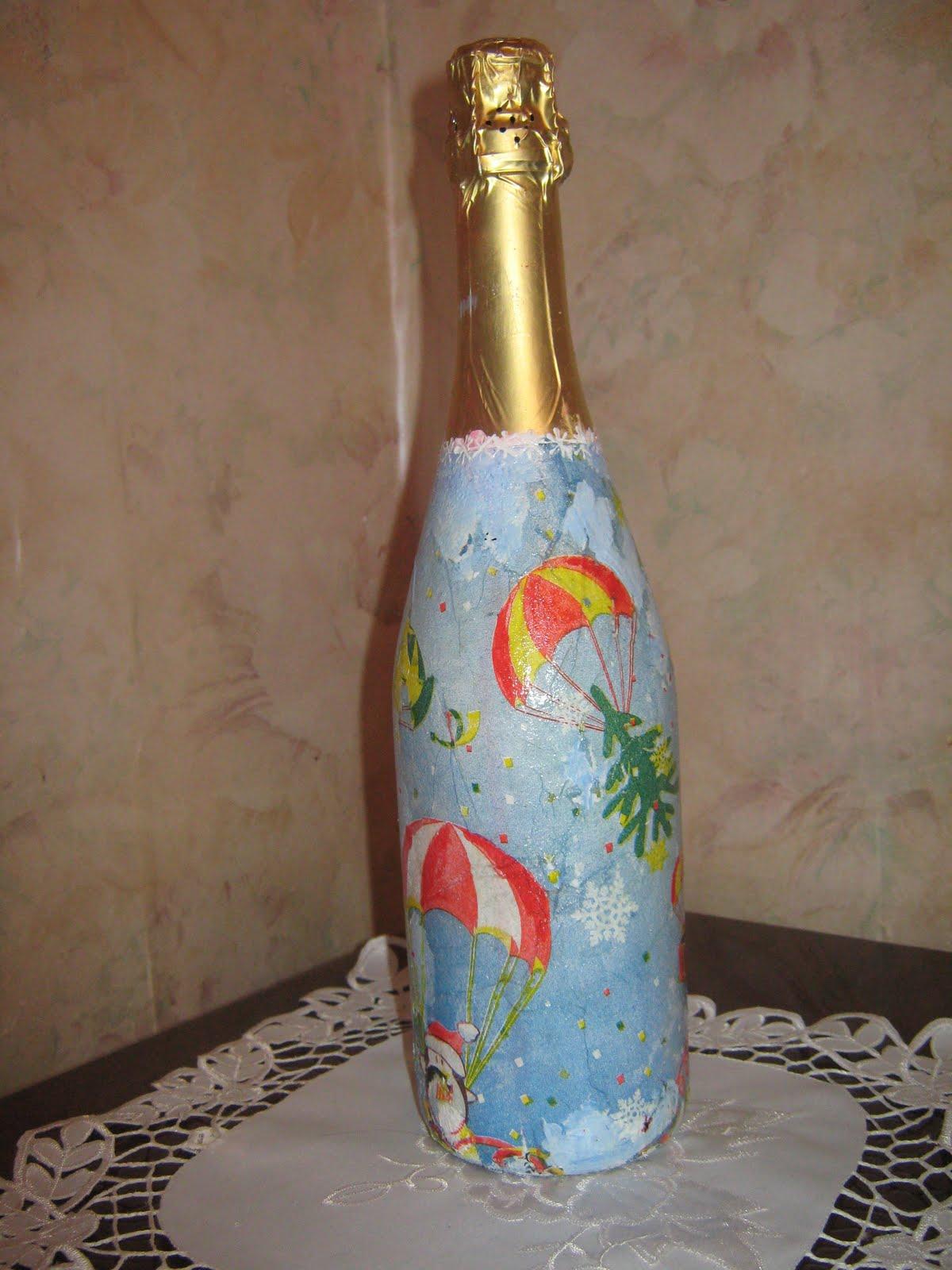 Новые работы бутылки своими руками