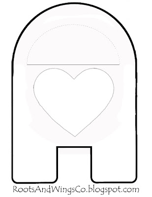 Valentine Mailbox Template | For Changing Valentine Mailbox