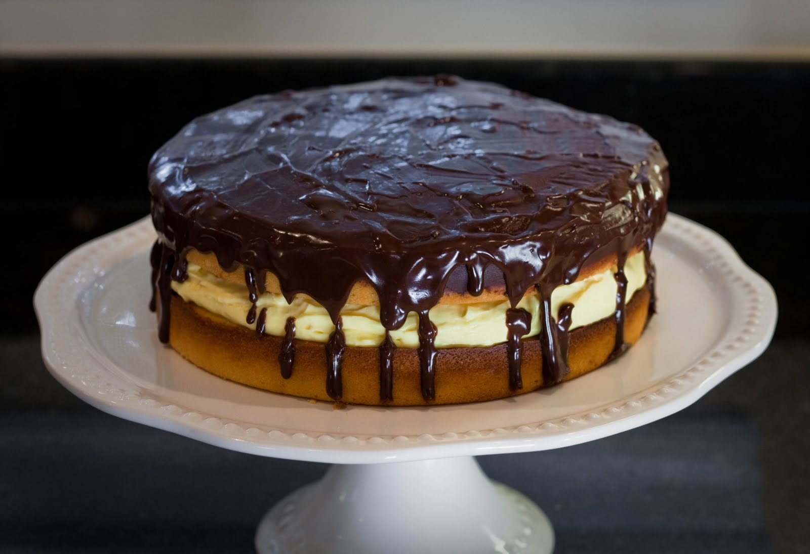 Boston Cream Pie — boston cream pie , cake , chocolate , dessert ...