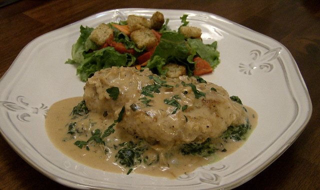 Ms. enPlace: IHCC Out of Italy: Chicken Florentine