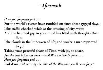 Siegfried Sassoon Poem