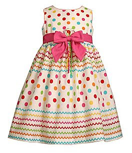 Bonnie Jean Infant Toddler Little Girls Dot Birthday Dress 12M-6X